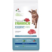 Сухой корм Trainer Natural Exigent Cat - with Beef, 1,5 кг