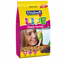 Основной корм для волнистых попугаев LIFE POWER NATURE 800г., Vitakraft