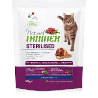 Сухой корм Trainer Natural Cat Adult Sterilised - Dry-Cured Ham, 300 гр