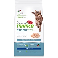 Сухой корм Trainer Natural Exigent Cat - with fresh White Meats, 1,5 кг