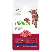 Сухой корм Trainer Natural Cat Adult - Beef, 1,5 кг