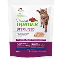 Сухой корм Trainer Natural Cat Adult Sterilised - Fresh White Meats, 300 гр