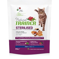 Сухой корм Trainer Natural Cat Adult Sterilised - Salmon, 300 гр