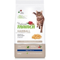 Сухой корм Trainer Chicken Hairball Control, 1,5 кг