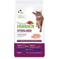 Сухой корм Trainer Natural Cat Adult Sterilised - Fresh White Meats, 1,5 кг