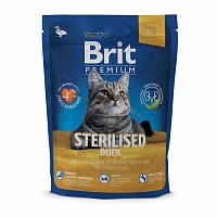 Brit Premium Cat Sterilised (утка с курицей и куриной печенью) 800 гр